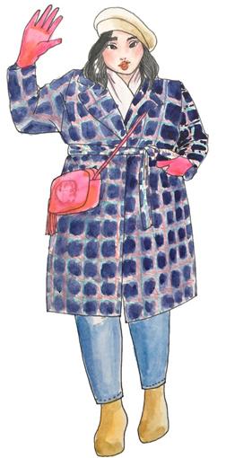 おしゃれな海外ぽっちゃりさんに学ぶ!秋冬ファッションのツボ 色使い
