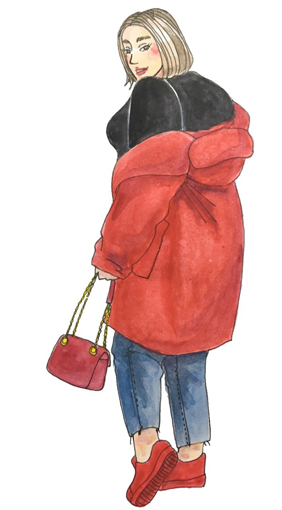 おしゃれな海外ぽっちゃりさんに学ぶ!秋冬ファッションのツボ
