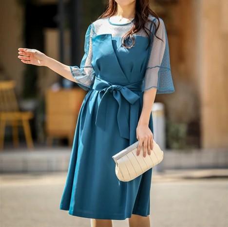 五分袖ビスチェタイプドレス グラマーさんにおすすめのドレス