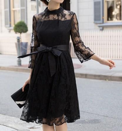 ウエストリボンドレス グラマーさんにおすすめのドレス