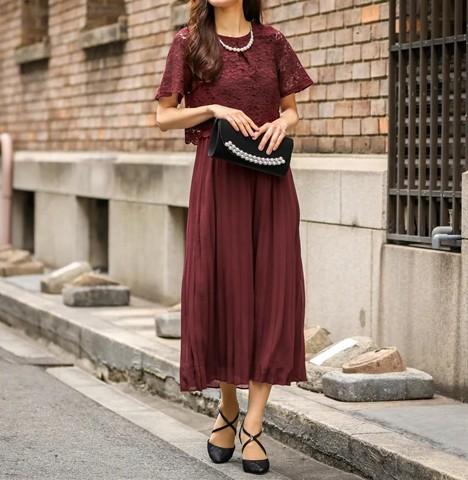 プリーツスカートドレス グラマーさんにおすすめのドレス