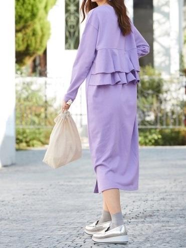 コーデが簡単な「ラベンダー色ワンピース」は着やせデザインを選ぶのがポイント_02