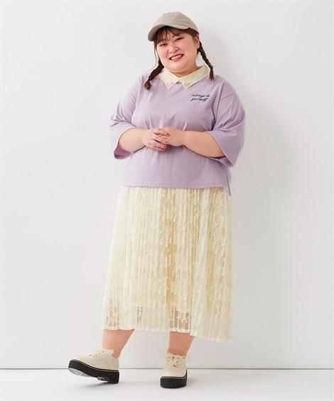春色プリーツスカートでトレンド感を最大級に02