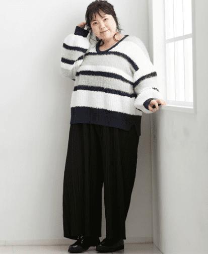 ぽっちゃりさんにはどの編み方・サイズ感のセーターがおすすめ?_03