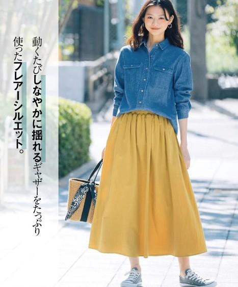 ロングスカートの流行は継続。2021年春夏のコーデは?_01