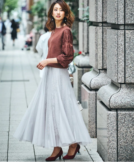 ロングスカートの流行は継続。2021年春夏のコーデは?_03